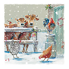 Buy Ling Designs Farmyard Christmas Card Online at johnlewis.com