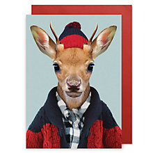 Buy Lagom Designs White Tailed Deer Calf Christmas Card Online at johnlewis.com