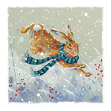 Buy Ling Designs Leaping Across The Frosty Meadow Christmas Card Online at johnlewis.com