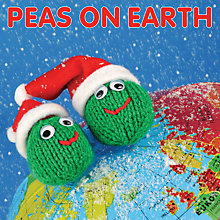 Buy Mint Peas On Earth Christmas Card Online at johnlewis.com
