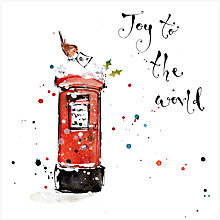 Buy Louise Mulgrew Joy To The World Christmas Card Online at johnlewis.com