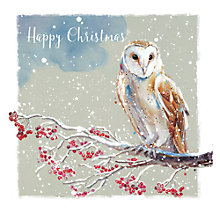 Buy Ling Designs Barn Owl In The Snow Christmas Card Online at johnlewis.com