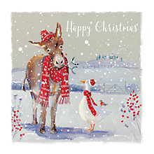 Buy Ling Designs Farmyard Friends Christmas Card Online at johnlewis.com