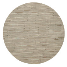 Buy Chilewich Round Bamboo Placemat, Oat Online at johnlewis.com