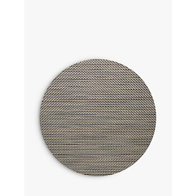 Chilewich Basket Weave Round Placemat, Chestnut