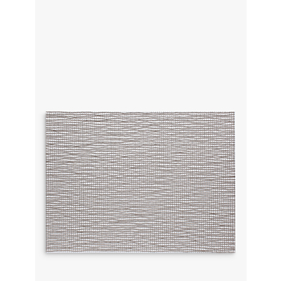 Chilewich Lattice Woven Rectangular Placemat, Silver