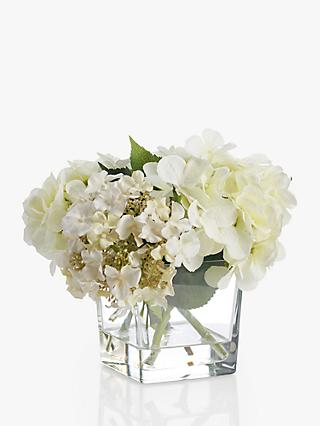 Artificial flowers plants silk flowers table centrepieces john peony artificial hydrangea in glass cube small mightylinksfo