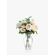 Buy Peony Artificial Rose in Small Waisted Glass Vase Online at johnlewis.com