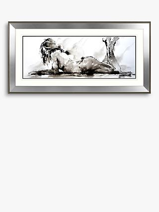 Joanne Boon Thomas - Laying Down Lady Framed Print, 110 x 55cm