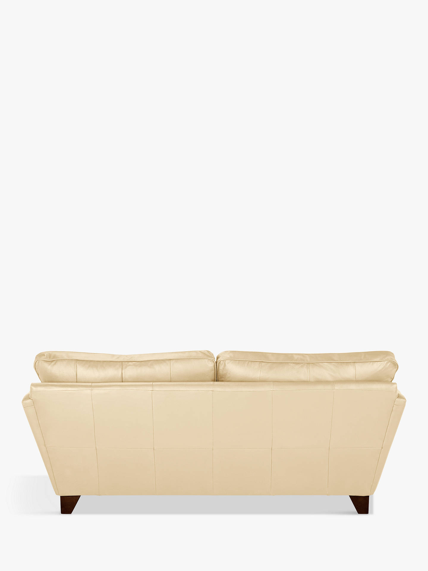 Buy John Lewis & Partners Oslo Leather Large 3 Seater Sofa, Dark Leg, Nature Cream Online at johnlewis.com