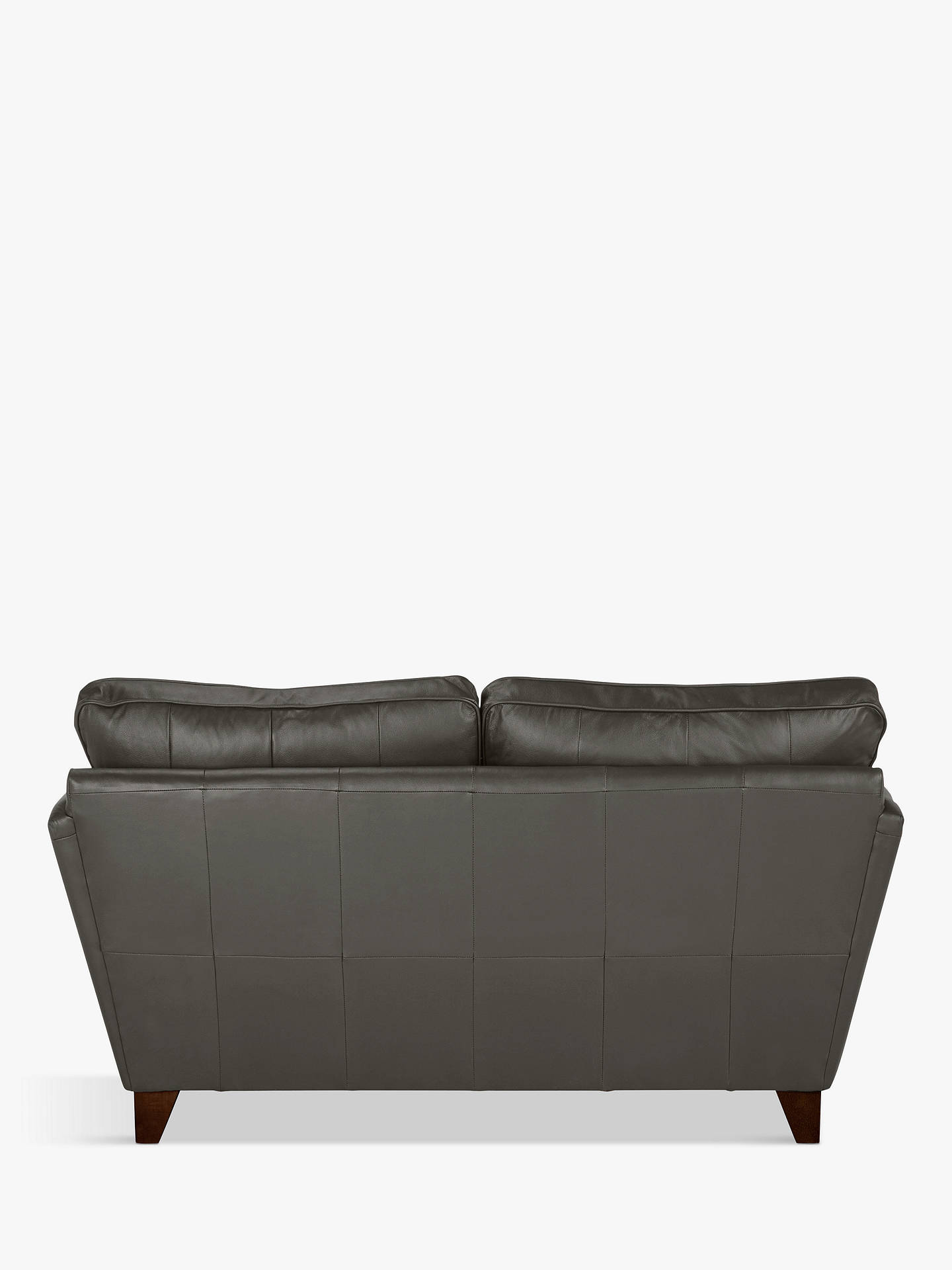 Buy John Lewis & Partners Oslo Leather Small 2 Seater Sofa, Dark Leg, Winchester Anthracite Online at johnlewis.com