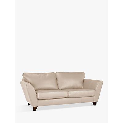 John Lewis Oslo Leather Large 3 Seater Sofa, Dark Leg