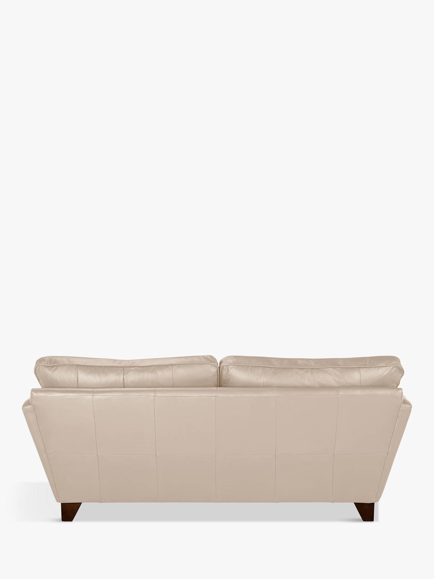 Buy John Lewis & Partners Oslo Leather Large 3 Seater Sofa, Dark Leg, Nature Putty Online at johnlewis.com