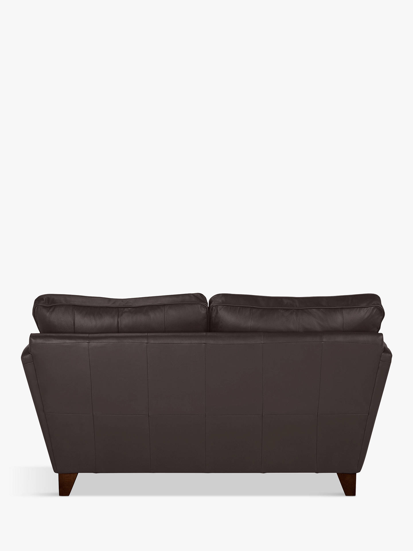 Buy John Lewis & Partners Oslo Leather Small 2 Seater Sofa, Dark Leg, Demetra Charcoal Online at johnlewis.com