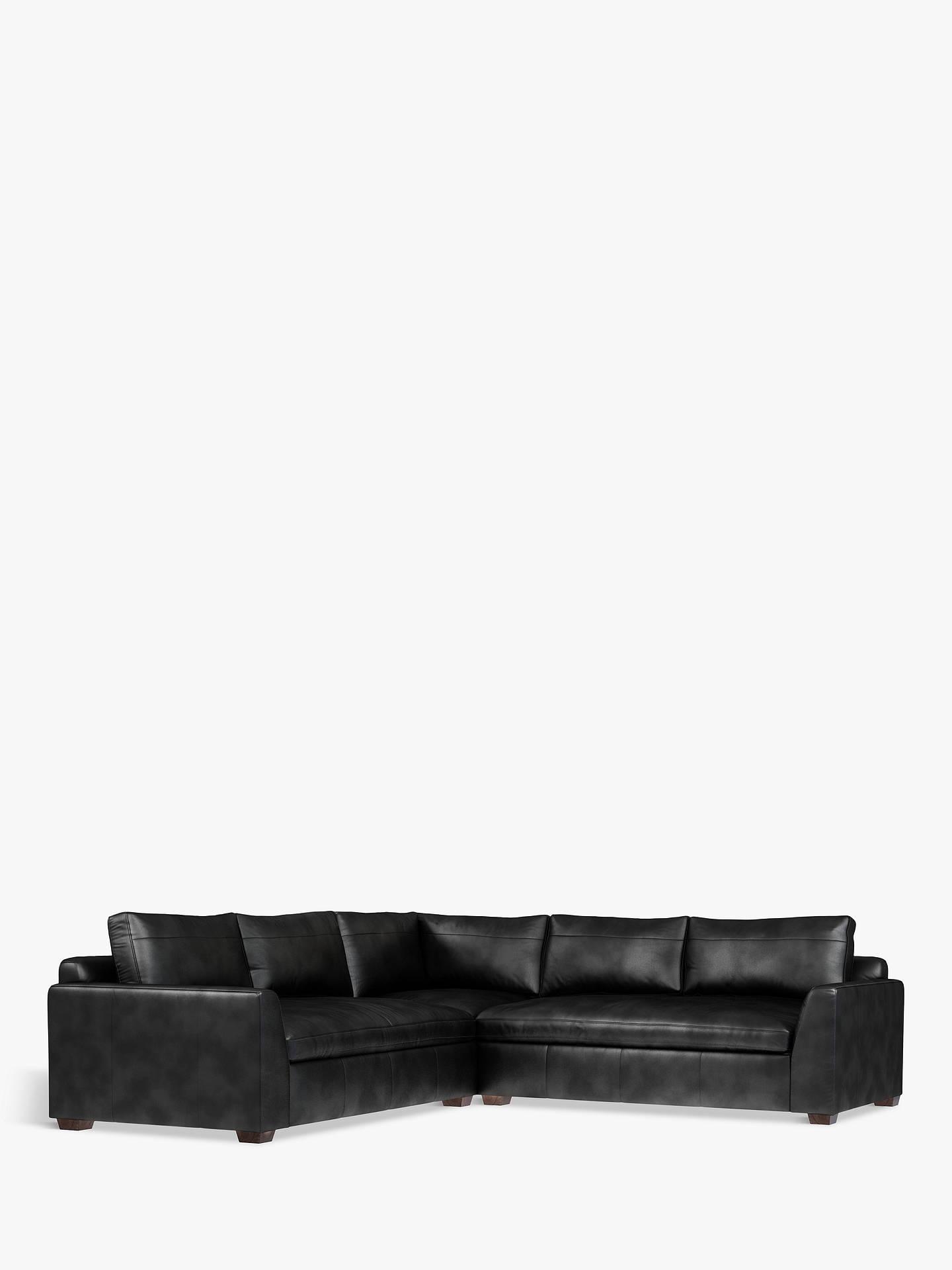 Terrific John Lewis Partners Tortona Leather Corner Sofa Contempo Theyellowbook Wood Chair Design Ideas Theyellowbookinfo