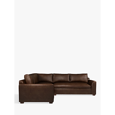 John Lewis & Partners Tortona Leather Corner Sofa