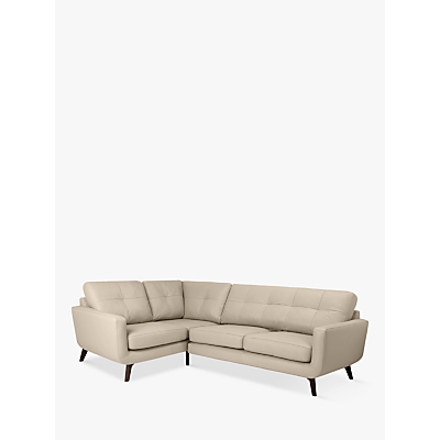 John Lewis & Partners Barbican Leather LHF Corner End Sofa, Dark Leg