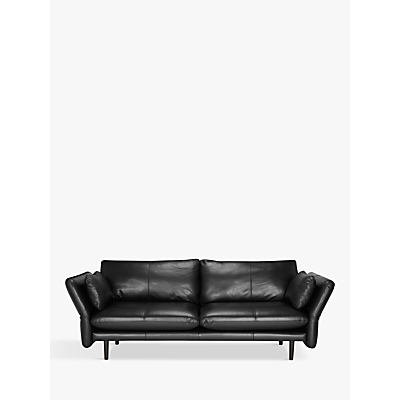 Design Project by John Lewis No.142 Grand 4 Seater Leather Sofa, Dark Leg
