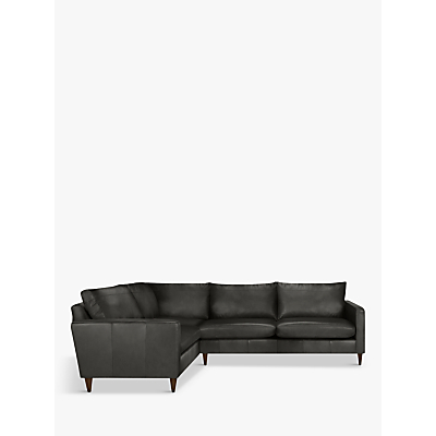 John Lewis & Partners Bailey Leather RHF Corner End Sofa, Dark Leg
