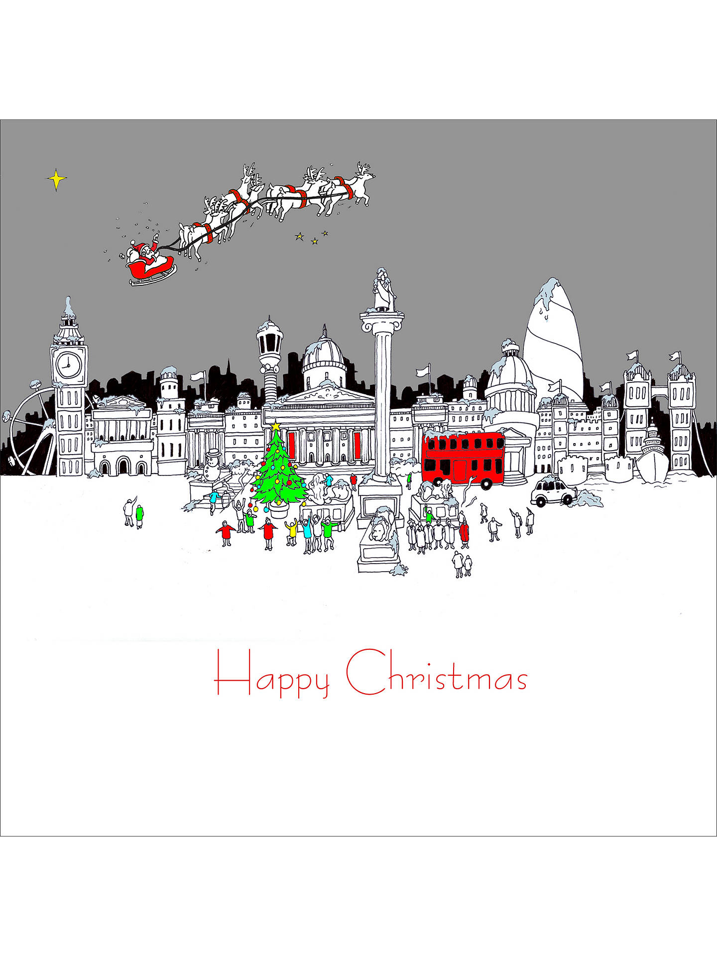 Portfolio The National Gallery At Christmas Card Online Johnlewis