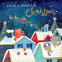Buy Rachel Ellen Merry Little Christmas Rooftops Card Online at johnlewis.com