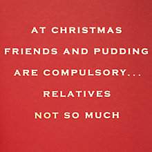Buy Susan O'Hanlon Friends And Pudding Christmas Card Online at johnlewis.com