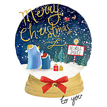 Buy Rachel Ellen Merry Little Christmas Penguins Globe Card Online at johnlewis.com