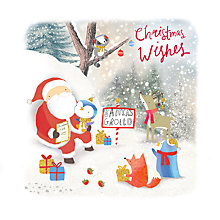 Buy Rachel Ellen Merry Little Christmas Santa's Grotto Card Online at johnlewis.com