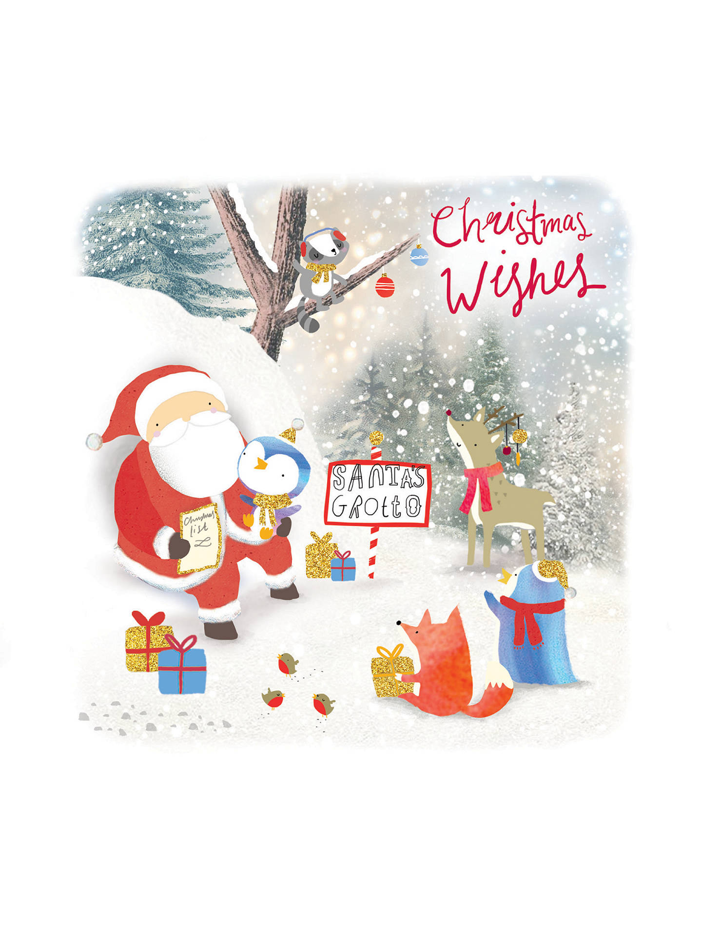 Rachel Ellen Merry Little Christmas Santa's Grotto Card at John Lewis & Partners