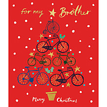 Buy Woodmansterne Brother Bikes Christmas Card Online at johnlewis.com