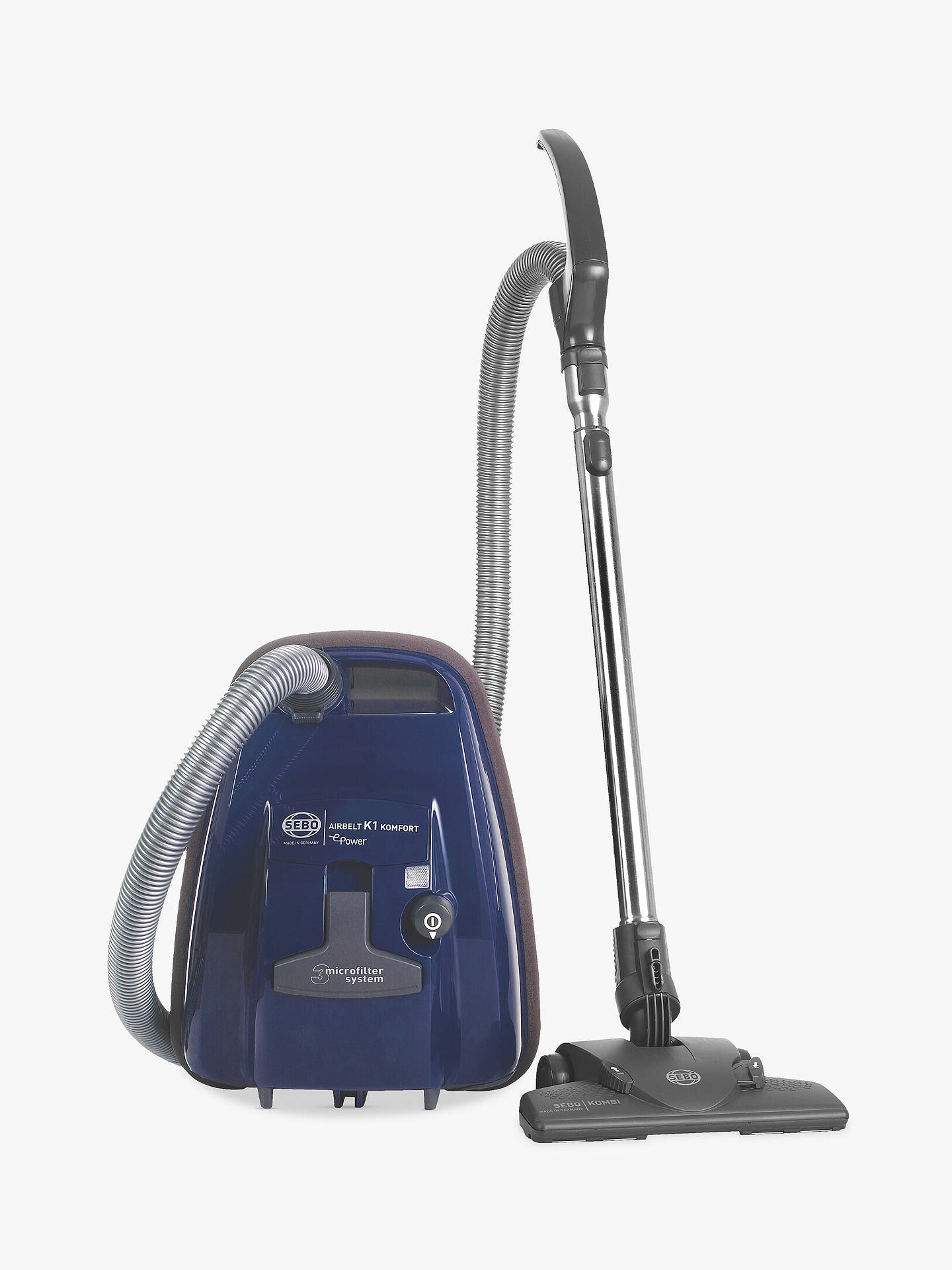 Buy SEBO K1 Airbelt Komfort ePower Vacuum Cleaner, Blue Online at johnlewis.com