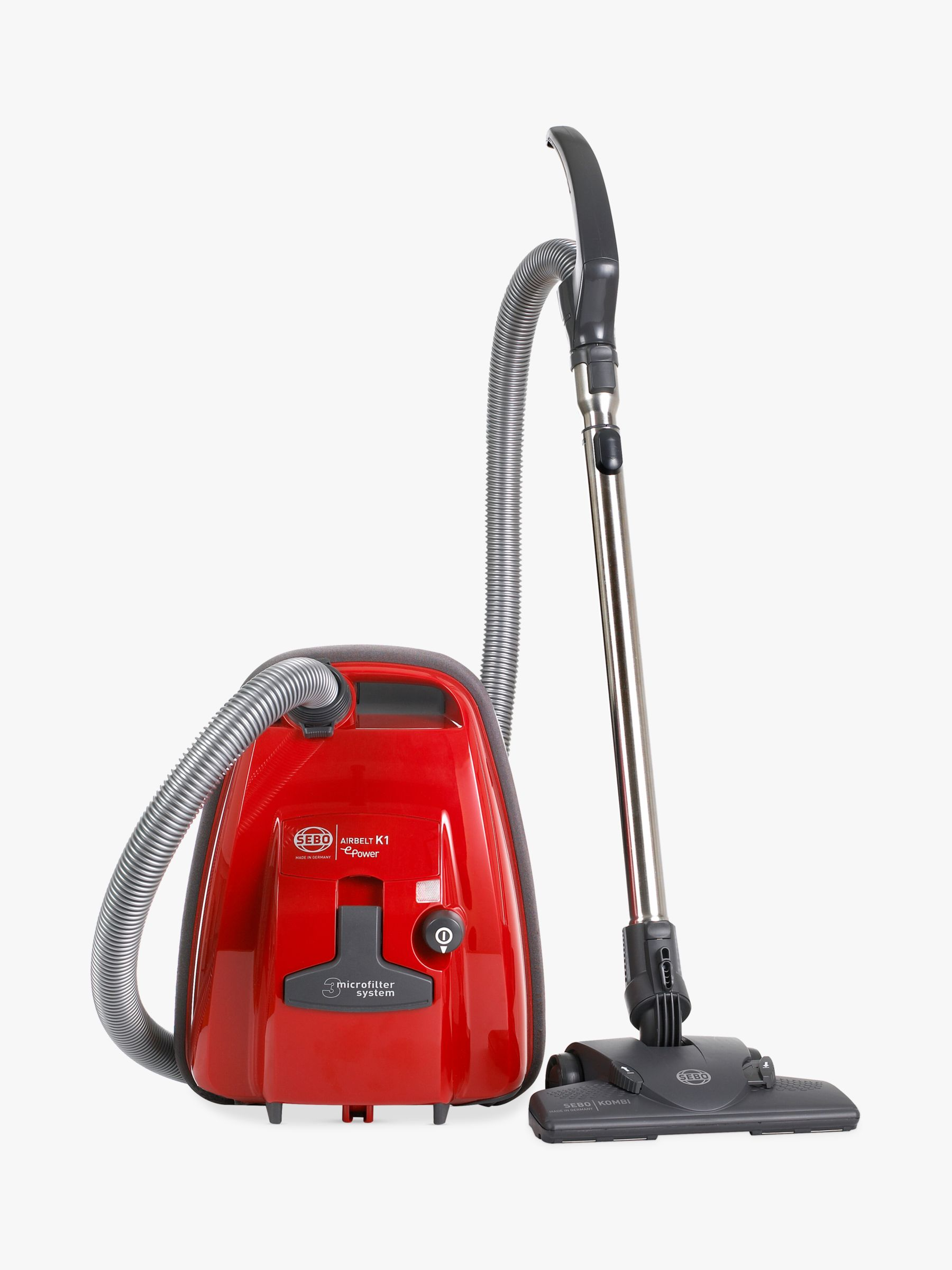 Sebo SEBO Airbelt K1 ePower Vacuum Cleaner, Red