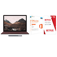 Buy Microsoft Surface Laptop, Intel Core i5, 8GB RAM, 256GB SSD and Microsoft Office 365 Home Premium and Netflix Voucher and Wacom Bamboo Ink Stylus Online at johnlewis.com