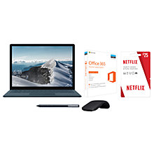 Buy Microsoft Surface Laptop, Intel Core i5, 8GB RAM, 256GB SSD and Microsoft Office 365 Home Premium and Netflix Voucher and Wacom Bamboo Ink Stylus and Microsoft Arc Bluetooth Mouse Online at johnlewis.com