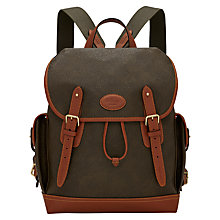 Buy Mulberry Heritage Scotchgrain Backpack, Brown Online at johnlewis.com