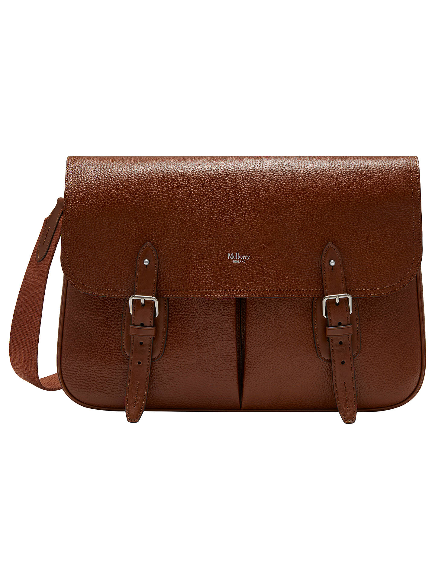 c45a40f20 Buy Mulberry Heritage Leather Messenger Bag, Brown Online at johnlewis.com  ...