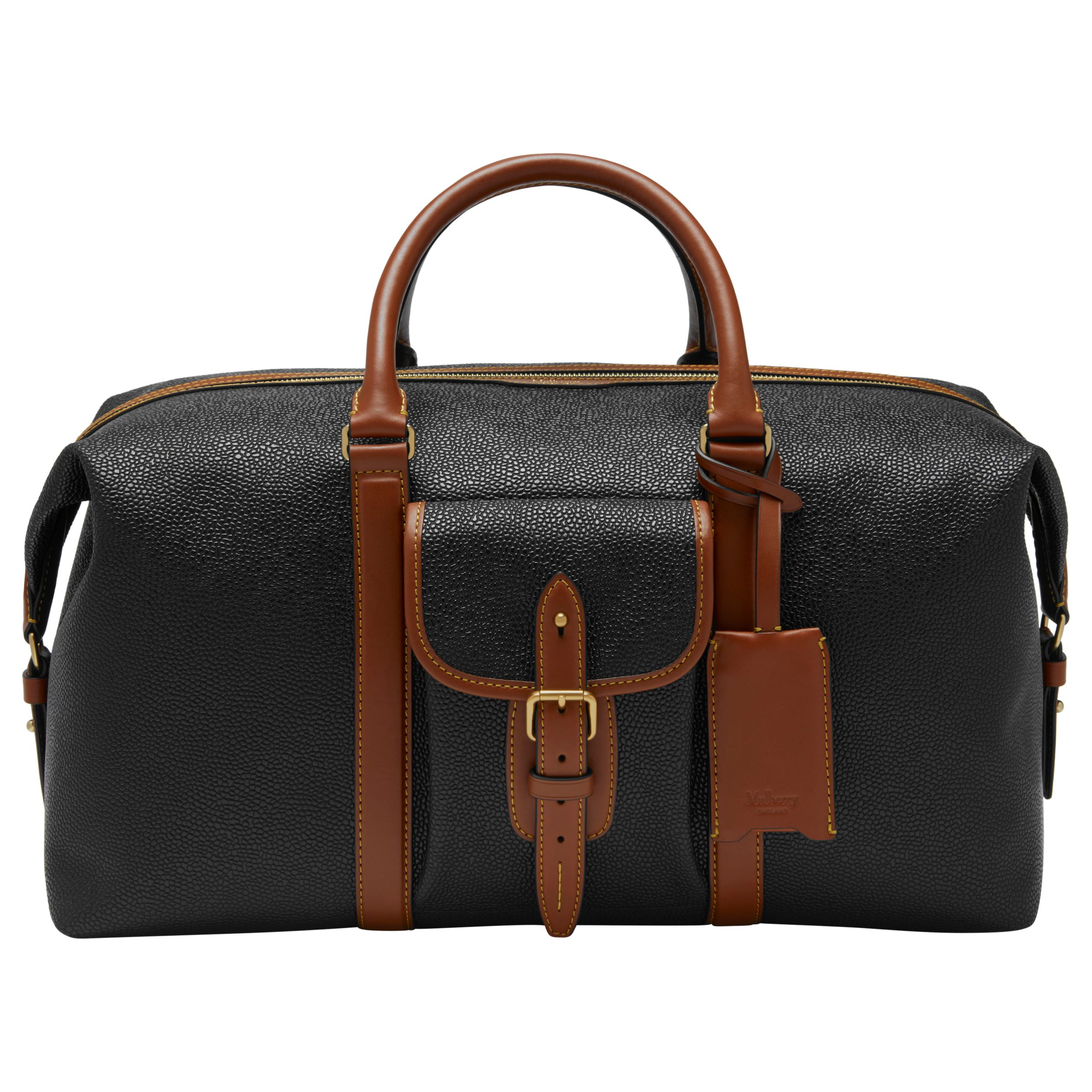 0a57b989b163 ... wholesale mulberry heritage scotchgrain weekend bag black at john lewis  partners f898d 11e41 ...