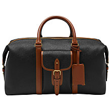 Buy Mulberry Heritage Scotchgrain Weekend Bag, Black Online at johnlewis.com