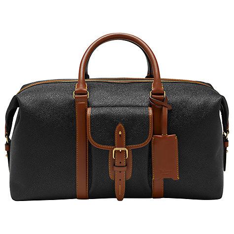 Buy Mulberry Heritage Scotchgrain Weekend Bag Black Online At Johnlewis