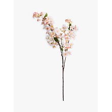 Buy Peony Artificial Single Stem Pear Blossom, White/Pink Online at johnlewis.com
