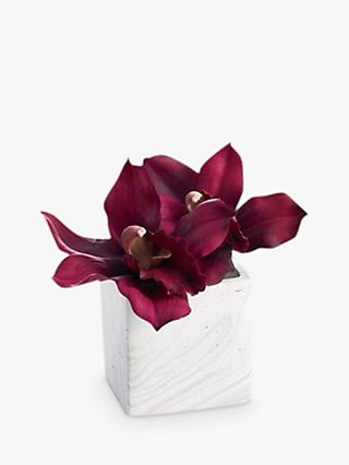 Artificial flowers plants silk flowers table centrepieces john peony cymbidium artificial plant in marble cube mightylinksfo
