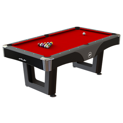 Image of BCE Riley Ray 7ft American Pool Games Table, Red/Black