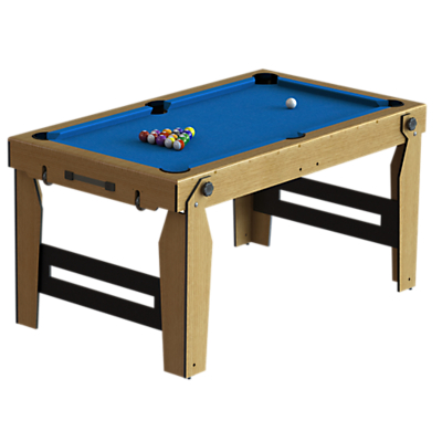 Image of BCE Razor Rolling Lay Flat 5ft Pool Table, Blue