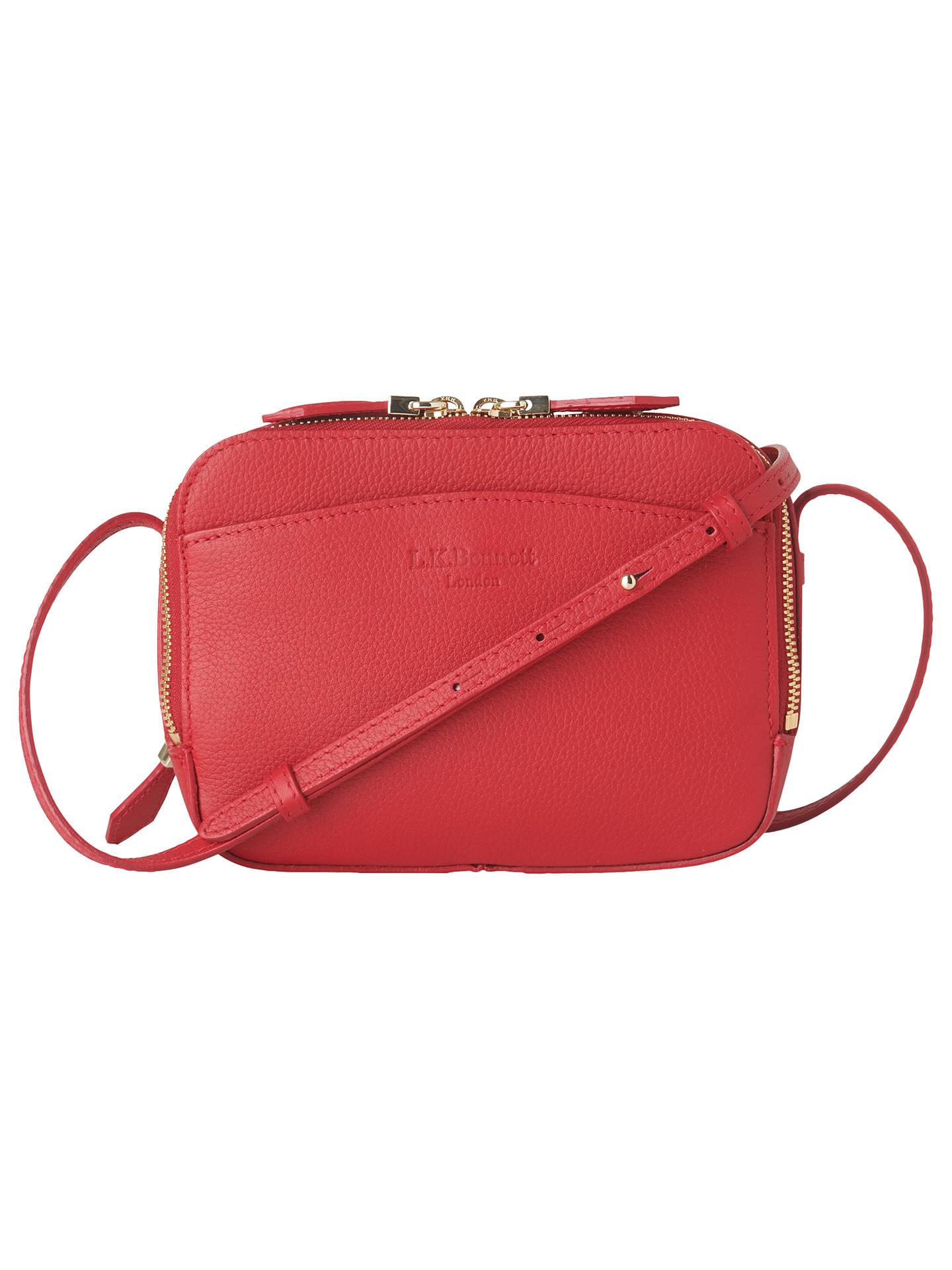 01d59c7920b6 Buy L.K.Bennett Mariel Leather Cross Body Bag, Red Online at johnlewis.com  ...