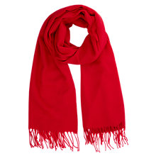 Buy Warehouse Soft Plain Fringe Scarf, Bright Red Online at johnlewis.com