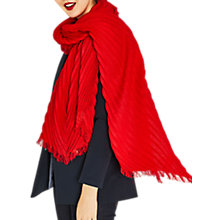 Buy Oasis Crinkle Scarf, Bright Orange Online at johnlewis.com