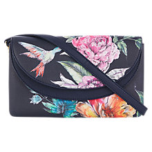Buy Oasis Illustrator Floral Print Clutch Bag, Multi Online at johnlewis.com
