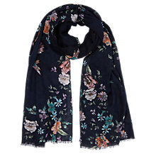 Buy Oasis Illustrator Floral Print Scarf, Multi Online at johnlewis.com