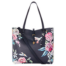 Buy Oasis Illustrator Floral Print Shopper Bag, Multi Online at johnlewis.com