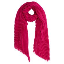 Buy Oasis Sydny Crinkle Scarf, Neon Pink Online at johnlewis.com